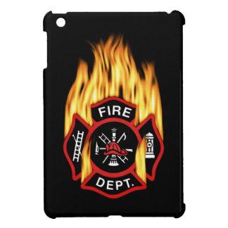 El flamear de la insignia del bombero iPad mini cárcasas