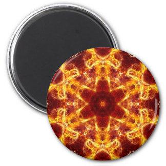 El flamear Lotus Imán Redondo 5 Cm