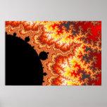 El flamear Sun - fractal Posters