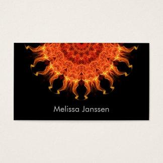 El flamear Sun - Mandala Tarjeta De Negocios