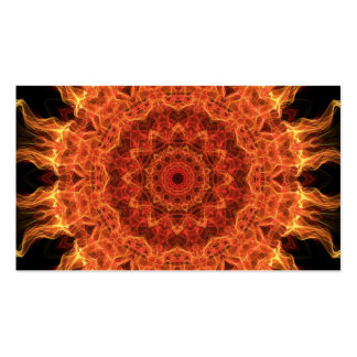 El flamear Sun Tarjetas De Visita