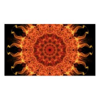 El flamear Sun Plantillas De Tarjetas De Visita