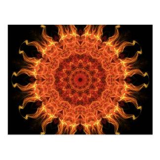El flamear Sun Postales