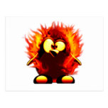 El flamear Tux (antorcha del pingüino) Tarjeta Postal