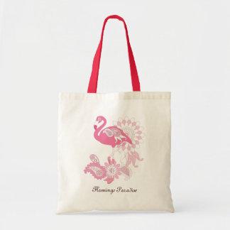 El flamenco rosado bonito de Paisley femenino se Bolsa Tela Barata