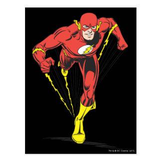 El flash corre adelante tarjeta postal