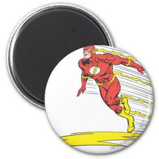 El flash salta a la izquierda imán redondo 5 cm
