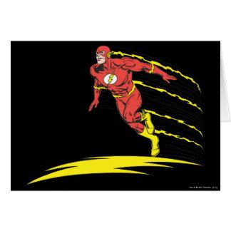 El flash salta a la izquierda tarjeta de felicitación