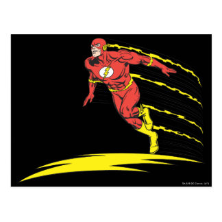 El flash salta a la izquierda tarjetas postales
