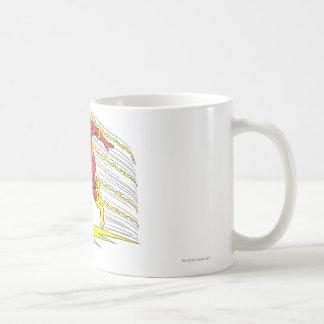 El flash salta a la izquierda taza de café