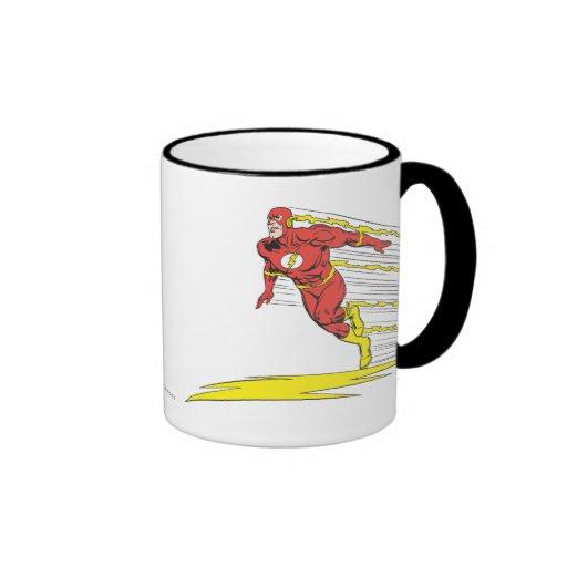 El flash salta a la izquierda tazas