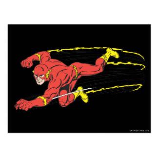 El flash se lanza a la izquierda tarjeta postal