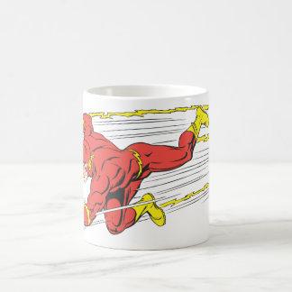 El flash se lanza a la izquierda taza básica blanca