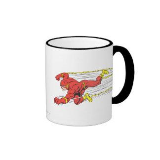 El flash se lanza a la izquierda taza de café