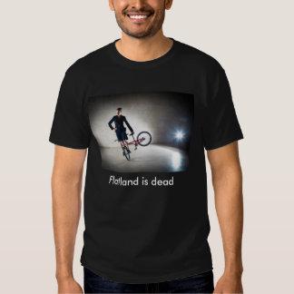 El Flatland es camiseta muerta con el texto Remera