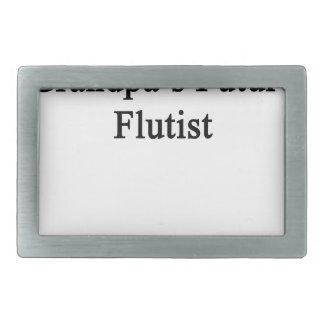 El flautista futuro del abuelo hebillas de cinturón rectangulares