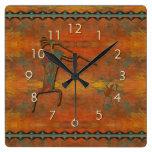 El Flautista (The Flute Player) Wall Clocks