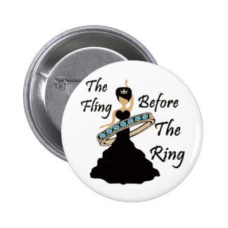 El Fling antes del fondo del blanco del anillo Pin Redondo 5 Cm