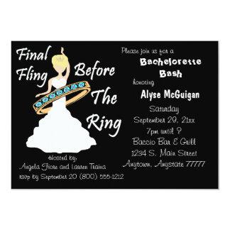 """El Fling final antes del anillo Bachelorette Invitación 5"""" X 7"""""""