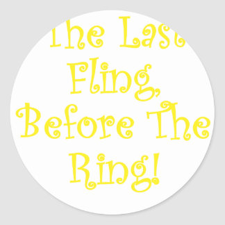 El Fling pasado antes del anillo Etiquetas Redondas