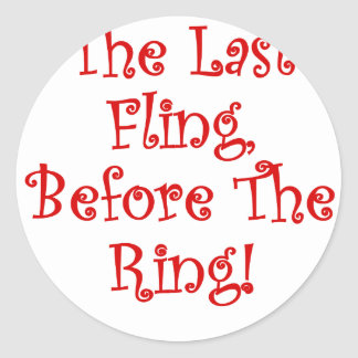 El Fling pasado antes del anillo Pegatina Redonda