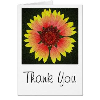 El flor más brillante le agradece cardar tarjeta de felicitación