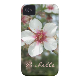 El flor personalizado florece la caja intrépida de iPhone 4 Case-Mate funda