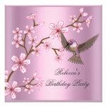 El flor rosado asiático del cumpleaños florece el  anuncios personalizados