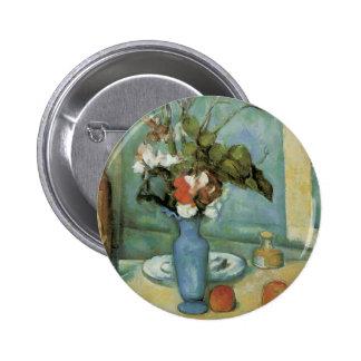 El florero azul (aka flores y fruta) por Cezanne Chapa Redonda 5 Cm