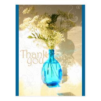 El florero azul le agradece tarjeta postal
