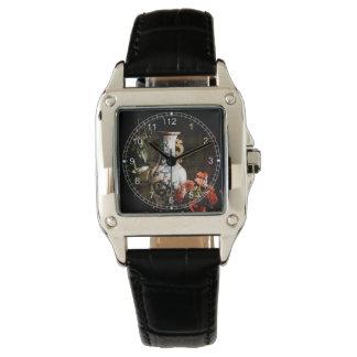 El florero chino reloj