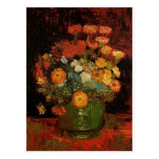El florero de la pintura del vintage de Van Gogh Tarjetas Postales
