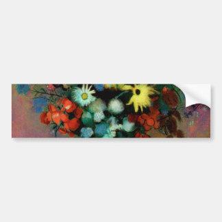 El florero de Odilon Redon con Flowers (1914) Pegatina Para Auto
