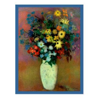 El florero de Odilon Redon con Flowers 1914 Postal