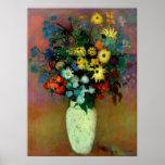 El florero de Odilon Redon con Flowers (1914) Póster