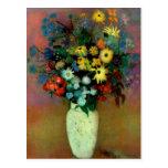 El florero de Odilon Redon con Flowers (1914) Postal