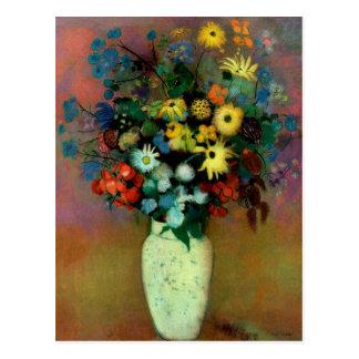 El florero de Odilon Redon con Flowers (1914) Tarjetas Postales