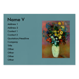 El florero de Odilon Redon con Flowers (1914) Tarjetas De Visita Grandes