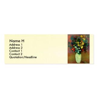 El florero de Odilon Redon con Flowers (1914) Tarjetas De Visita Mini