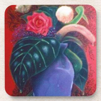 El florero posavasos de bebida