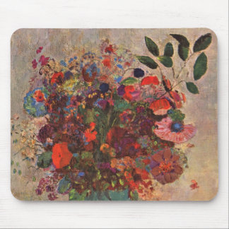 El florero turco, Odilon Redon, vintage florece Mouse Pad