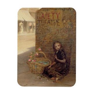 El florista, 1872 (aceite en lona) iman rectangular