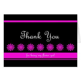 El florista de la diversión le agradece cardar tarjeta de felicitación
