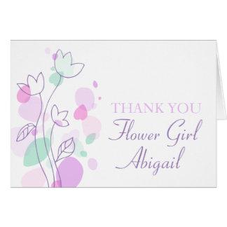 El florista floral gráfico del boda le agradece tarjeta pequeña