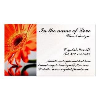 El florista florece la tarjeta de visita