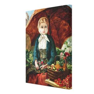 El florista impresión en lienzo estirada