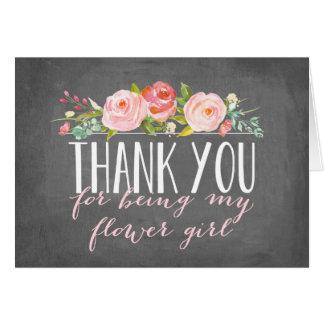 El florista le agradece dama de honor del   tarjeta pequeña