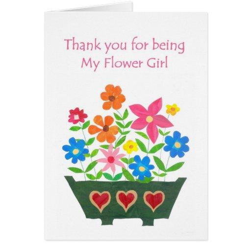 El florista le agradece tarjeta de felicitación -