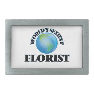 El florista más atractivo del mundo hebilla cinturón rectangular