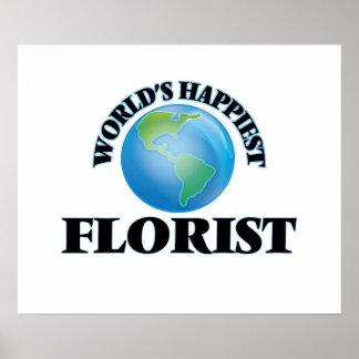 El florista más feliz del mundo póster